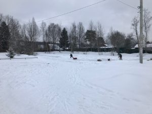 каток СНТ Мичуринец зима 2018