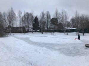 каток СНТ Мичуринец зима 2018 2