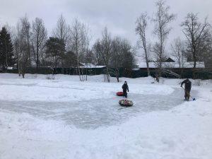 каток СНТ Мичуринец зима 2018 3