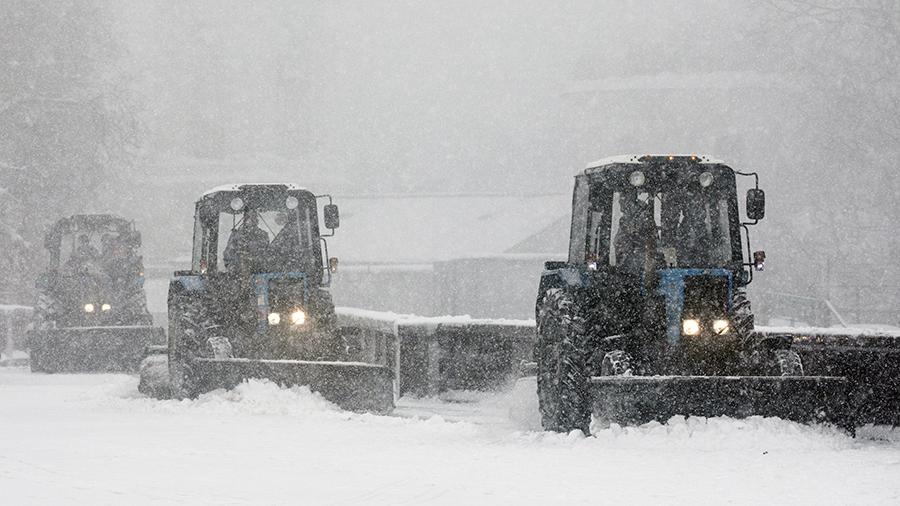 Уборка снега СНТ Мичуринец