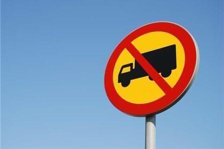Запрет въезда грузовиков с 1 апреля