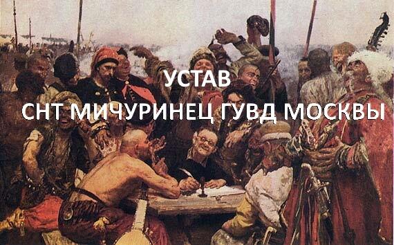 устав СНТ Мичуринец ГУВД Москвы